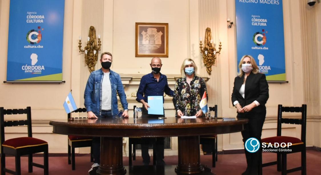 SADOP y la Agencia Córdoba Cultura firmaron un Acuerdo Marco de Cooperación.